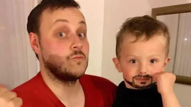 """Muốn thật """"bảnh"""" trông giống bố, cậu nhóc lém lỉnh nghĩ ra cách khiến cha mẹ cũng cạn lời - Ảnh 2."""