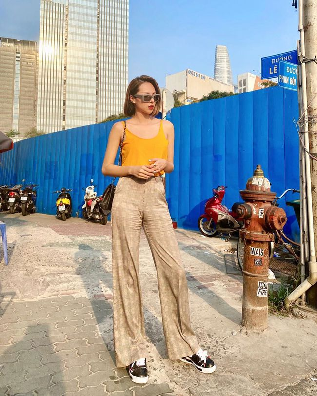 Diện quần ống suông đã chất ngất còn tôn dáng hết cỡ với loạt ý tưởng từ các mỹ nhân Việt - Ảnh 10.