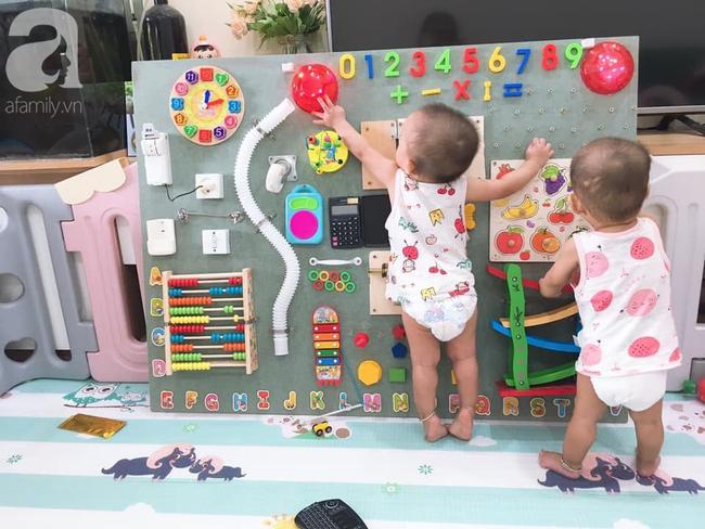 Tự mày mò làm cho con gái chiếc bảng bận rộn, ông bố trẻ tiết kiệm được 1 triệu, trẻ con hàng xóm kéo nhau sang chơi cùng - Ảnh 7.