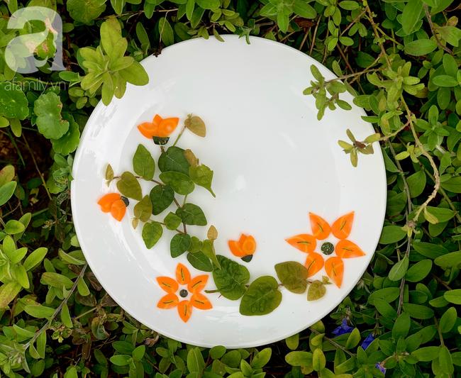 Dùng cà rốt và vỏ bí trang trí đĩa ăn đẹp tinh tế không ngờ lại dễ đến thế! - Ảnh 5.