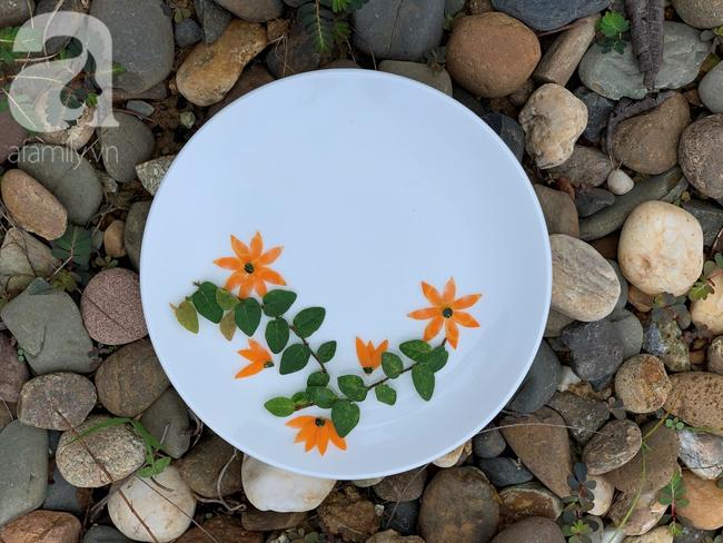 Dùng cà rốt và vỏ bí trang trí đĩa ăn đẹp tinh tế không ngờ lại dễ đến thế! - Ảnh 4.