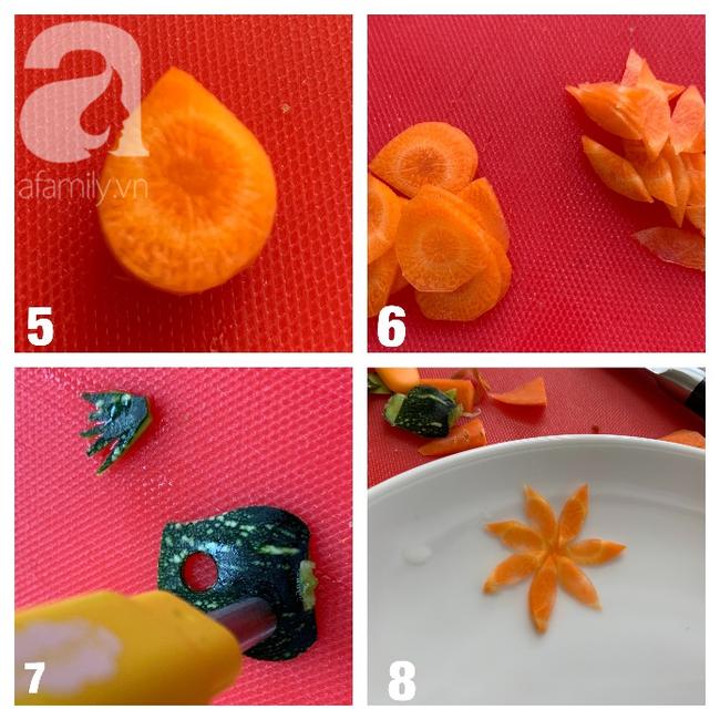 Dùng cà rốt và vỏ bí trang trí đĩa ăn đẹp tinh tế không ngờ lại dễ đến thế! - Ảnh 3.