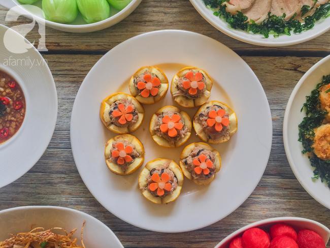 Mâm cơm cuối tuần 8 món ngon đẹp hơn tiệc nhà hàng khiến ai cũng phải ngưỡng mộ trầm trồ - Ảnh 2.