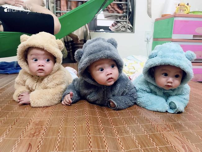 Hé lộ cuộc sống của gia đình bỉm sữa sinh ba: 2 tháng đầu gần như trắng đêm, bà nội, ngoại và 2 người giúp việc hỗ trợ mới xuể - Ảnh 7.