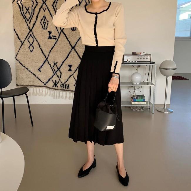 Chân váy đen dễ mặc mà cũng dễ nhạt, nhưng bạn áp dụng loạt ý tưởng sau thì xịn đẹp phải biết - Ảnh 12.