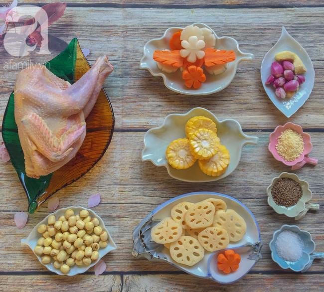 Bồi bổ sức khỏe phòng dịch bệnh với món gà hầm sen ngọt thơm  - Ảnh 1.
