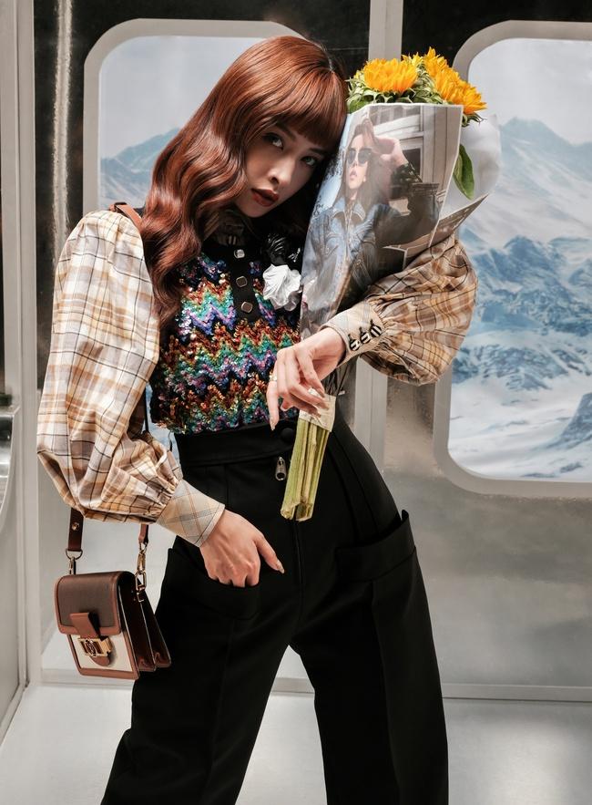 Chi Pu hóa quý cô công sở thập niên 70, lạ mắt nhưng vẫn đẹp hút hồn - Ảnh 5.