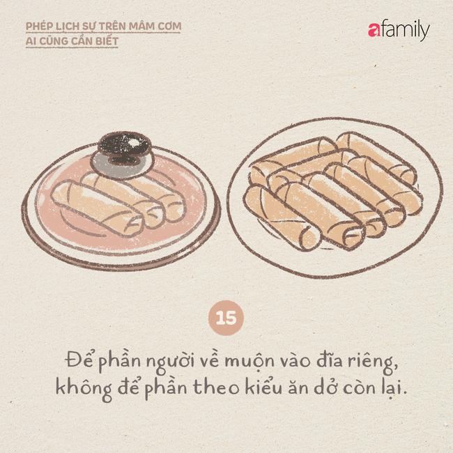 Những ngày này ăn cơm nhà nhiều, mọi người lại cần biết những phép lịch sự này  - Ảnh 15.