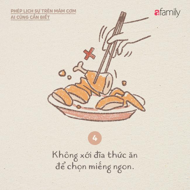 Những ngày này ăn cơm nhà nhiều, mọi người lại cần biết những phép lịch sự này  - Ảnh 4.
