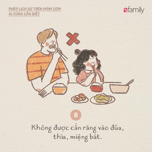 Những ngày này ăn cơm nhà nhiều, mọi người lại cần biết những phép lịch sự này  - Ảnh 8.