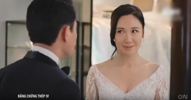 """""""Bằng chứng thép 4"""" của TVB: Bùng nổ cảnh đám cưới, vòng 1 căng đầy của Top 5 Hoa hậu Hồng Kông gây chú ý - Ảnh 9."""