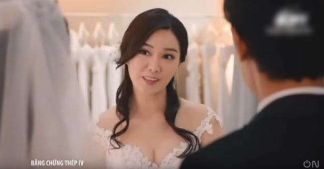 """""""Bằng chứng thép 4"""" của TVB: Bùng nổ cảnh đám cưới, vòng 1 căng đầy của Top 5 Hoa hậu Hồng Kông gây chú ý - Ảnh 13."""