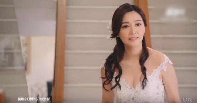 """""""Bằng chứng thép 4"""" của TVB: Bùng nổ cảnh đám cưới, vòng 1 căng đầy của Top 5 Hoa hậu Hồng Kông gây chú ý - Ảnh 10."""