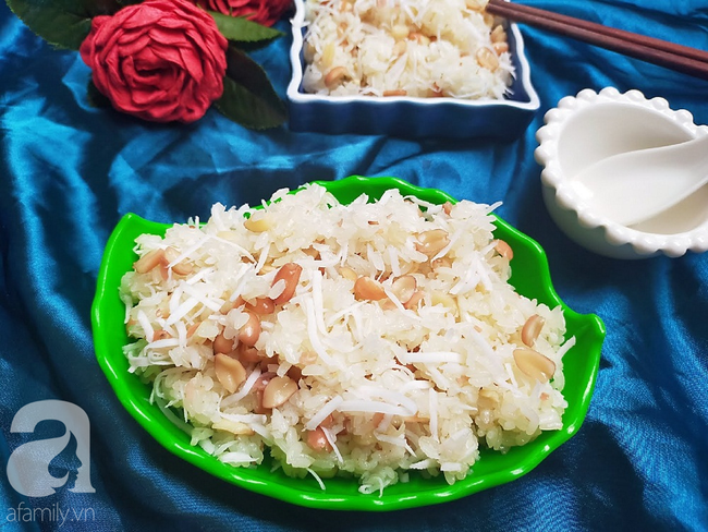 Cách nấu xôi lạc dừa dẻo thơm thật dễ dàng cho cả nhà ăn sáng