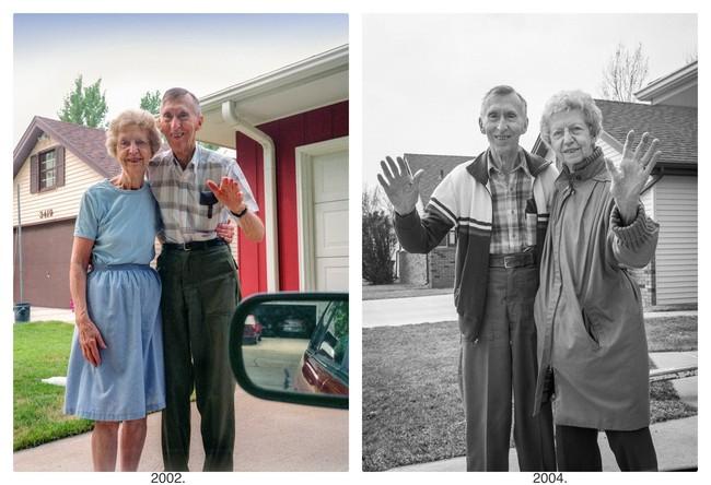"""Bộ ảnh """"Rời đi và vẫy chào"""" mất gần 30 năm hoàn thiện gây xúc động toàn thế giới bởi cha mẹ đã nằm xuống nhưng tình cảm vẫn đong đầy như ngày nào! - Ảnh 7."""