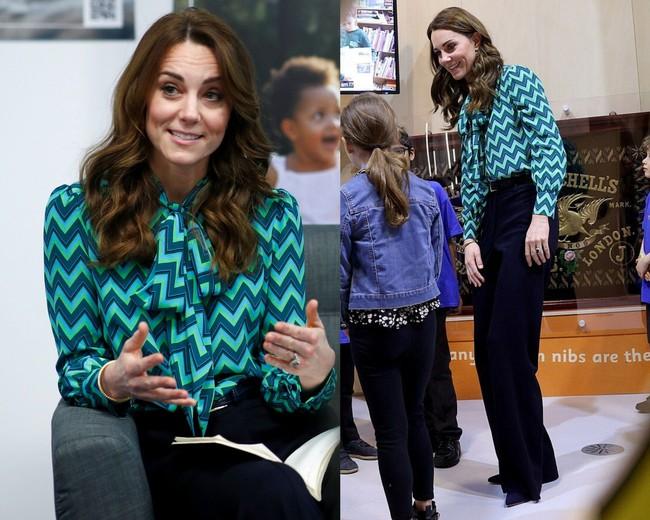 """Công nương Kate sở hữu rất nhiều """"vũ khí"""" thời trang lợi hại, trong đó có váy áo cổ nơ buộc cứ diện lên là sang ngút ngàn - Ảnh 3."""