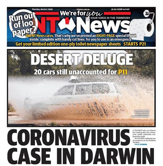 Báo Úc được khen nức nở vì in thêm 8 trang cho bạn đọc làm giấy vệ sinh - Ảnh 1.