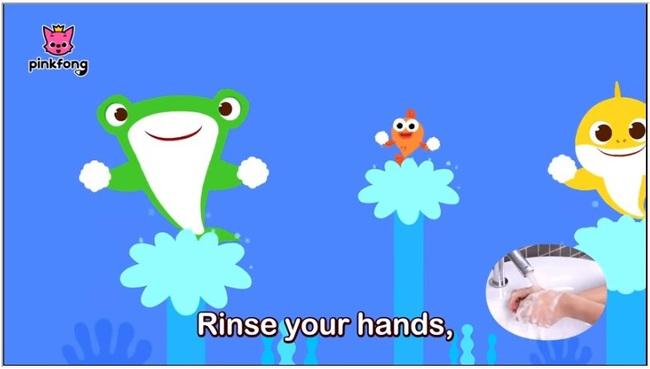 """Bố mẹ cho con xem bài hát """"Baby Shark"""" phiên bản rửa tay này, đảm bảo trẻ nào cũng biết rửa tay đúng cách - Ảnh 5."""
