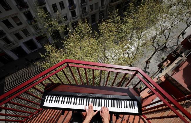 Cuộc sống bên ô cửa sổ, trên ban công, mái nhà thời cách ly tránh Covid-19, tưởng bí bách tù túng nhưng đẹp lạ thường - Ảnh 21.