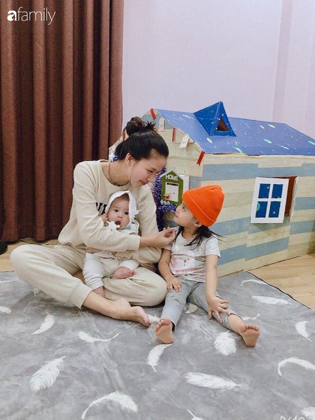 Mẹ Hà Nội tự làm cho con ngôi nhà bằng bìa các tông xinh như trong truyện tranh mà chỉ tốn hơn 100 nghìn đồng - Ảnh 8.