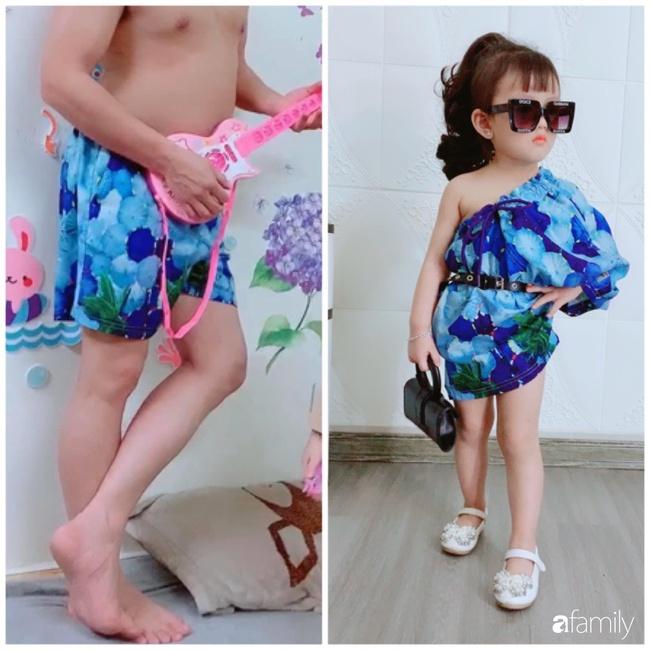 """Ở nhà quá chán, hot mom Hà Nội nảy ra ý định lấy quần đùi của chồng cosplay cho con gái 2 tuổi, không ngờ """"ra lò"""" bộ ảnh đẹp hơn tạp chí - Ảnh 3."""