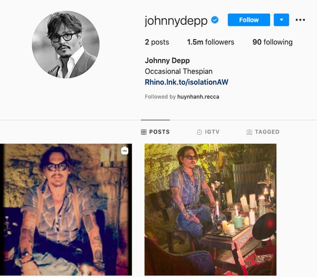 """Johnny Depp tức tốc lập Instagram sau ồn ào Amber Heard bị lộ bằng chứng """"dẫn trai về nhà"""", còn chần chờ gì mà không follow? - Ảnh 1."""