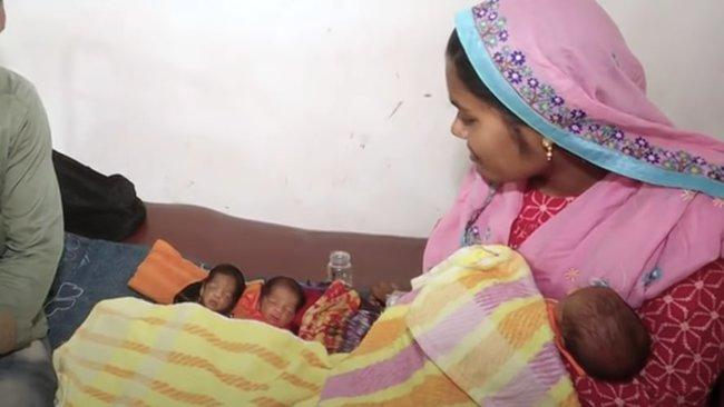 """Vừa sinh con được 26 ngày, bà mẹ bị """"chảy nước"""" ào ạt, các bác sĩ choáng váng khi tiếp tục đón thêm một cặp song sinh nữa chào đời - Ảnh 1."""