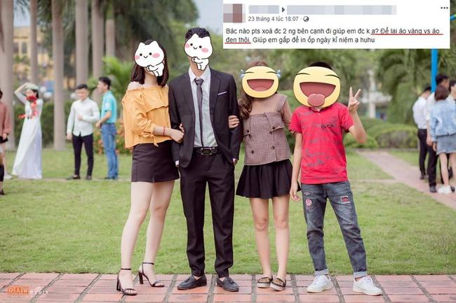 """Photoshop vừa có tầm lại có tâm: Nhận lời xóa giúp 2 người trong ảnh, """"chỉ giữ lại áo vàng, áo đen"""" và cái kết cười té ghế"""