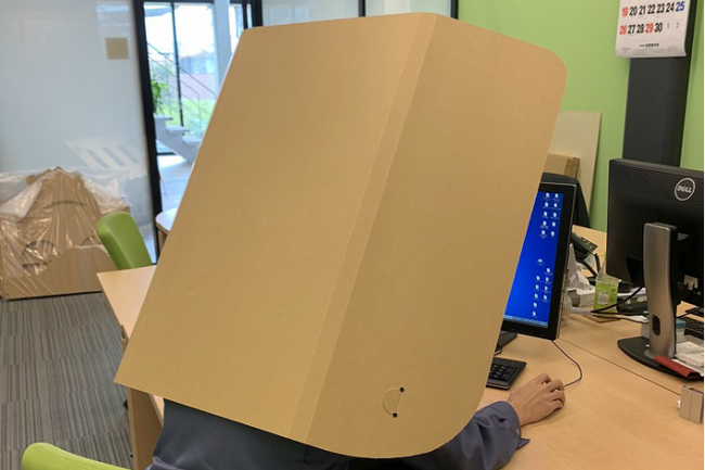 Dân công sở Nhật làm việc tại nhà phải đeo tấm bìa carton mỗi khi họp online, lý do đằng sau khiến bất cứ ai cũng té ngửa! - Ảnh 1.