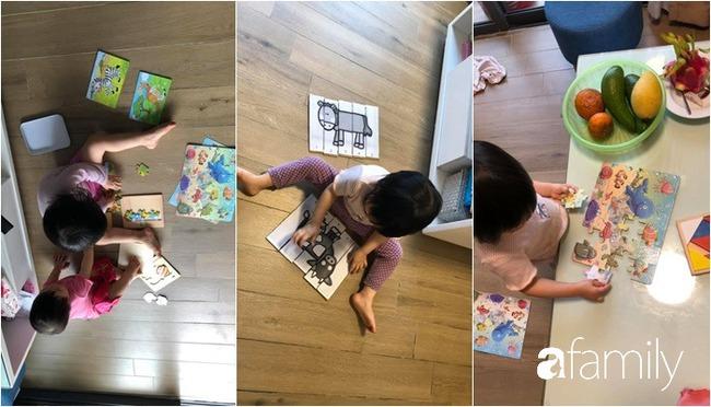 """Ở nhà tránh dịch, mẹ Hà Nội thiết kế hàng chục hoạt động thú vị mà chỉ tốn """"0 đồng"""" cho 2 con chơi say mê ngày này qua ngày khác - Ảnh 5."""