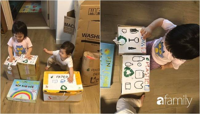 """Ở nhà tránh dịch, mẹ Hà Nội thiết kế hàng chục hoạt động thú vị mà chỉ tốn """"0 đồng"""" cho 2 con chơi say mê ngày này qua ngày khác - Ảnh 10."""