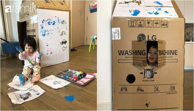 Nhật ký những ngày ở nhà đầy ắp hoạt động thú vị của bà mẹ Hà Nội thiết kế cho 2 con chơi không biết chán - Ảnh 1.