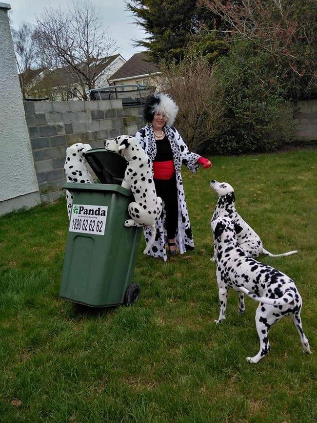 Phải ở nhà né dịch, dân Úc tranh thủ mở show diễn thời trang khi ra ngoài đổ rác - Ảnh 5.