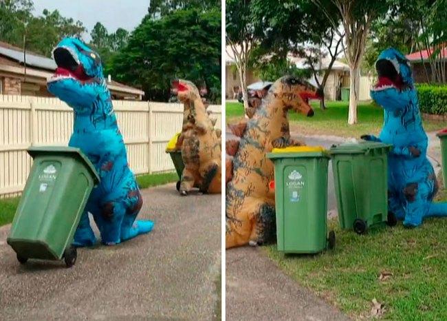Phải ở nhà né dịch, dân Úc tranh thủ mở show diễn thời trang khi ra ngoài đổ rác - Ảnh 6.