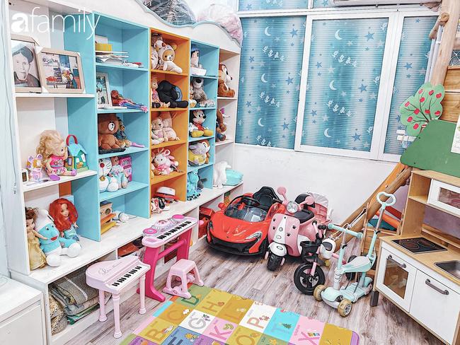 Căn phòng vui chơi của 3 nhóc tỳ ở Hà Nội khiến các mẹ bỉm sữa mê mẩn, các con nghỉ dịch ở nhà cũng là chuyện nhỏ - Ảnh 2.