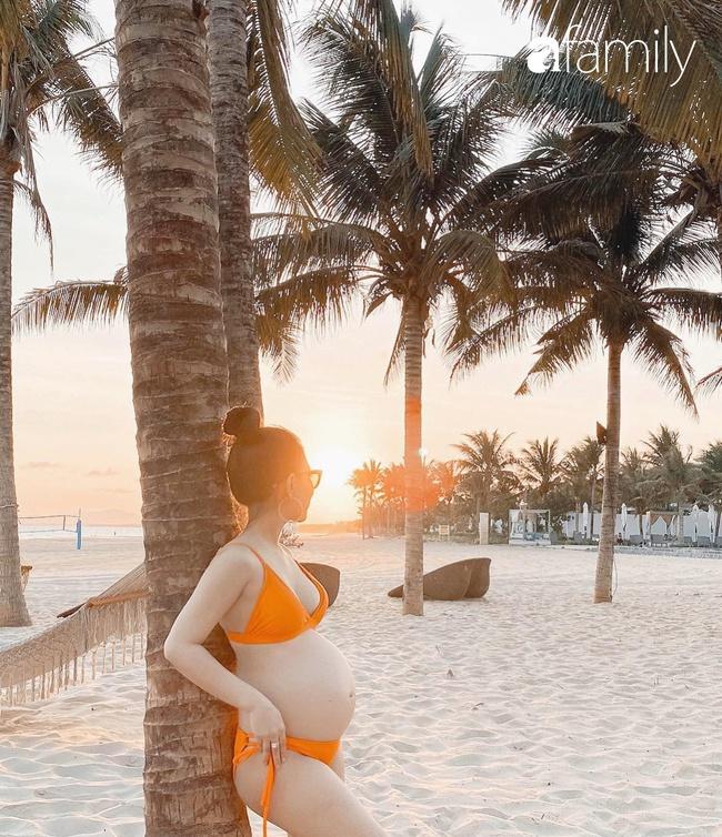 9x Sài Gòn có bầu lại xinh hơn thời con gái, ra biển vẫn diện bikini khoe trọn 3 vòng, sắp đẻ càng rạng ngời gấp bội - Ảnh 4.