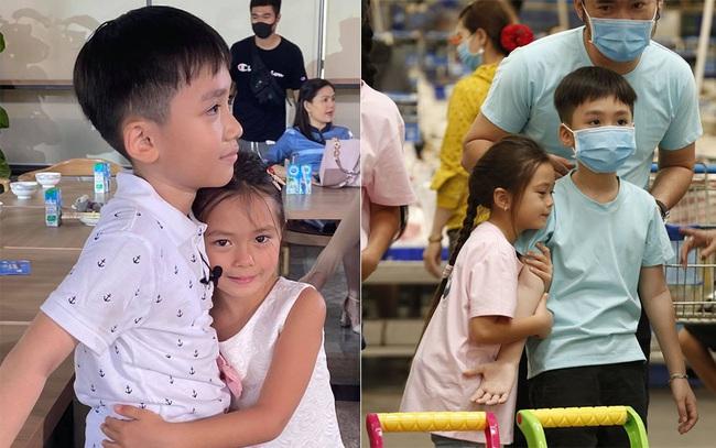 Con trai Thu Trang - Tiến Luật nhắc tên con gái Đoan Trang, lại còn e thẹn cực đáng yêu  - Ảnh 5.