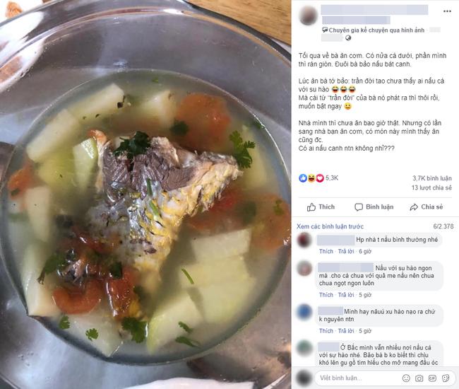 """Trổ tài nấu canh cá với su hào, cô gái bất ngờ khi bị người nhà chê """"Trần đời chưa thấy ai làm thế"""" nhưng dân mạng lại bênh chằm chặp - Ảnh 1."""