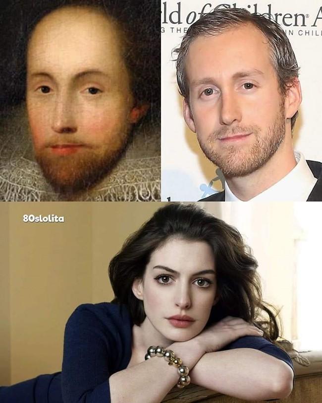 Sự giống nhau kỳ lạ giữa đại thi hào Shakespeare và chồng của ngôi sao Hollywood Anne Hathaway, một minh chứng hùng hồn cho hiện tượng song trùng đầy bí ẩn - Ảnh 1.