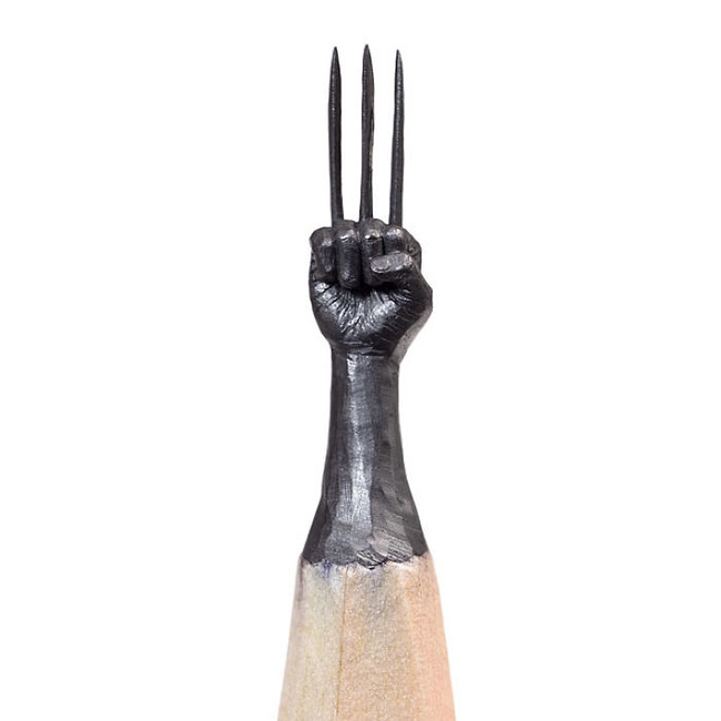 Ngỡ ngàng với loạt tác phẩm điêu khắc bé tí ti trên đầu bút chì - Ảnh 9.