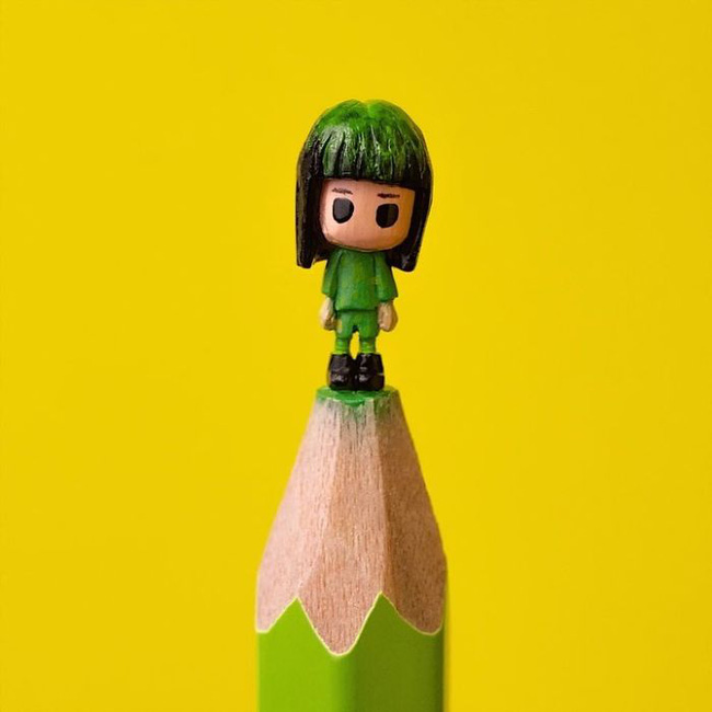 Ngỡ ngàng với loạt tác phẩm điêu khắc bé tí ti trên đầu bút chì - Ảnh 7.