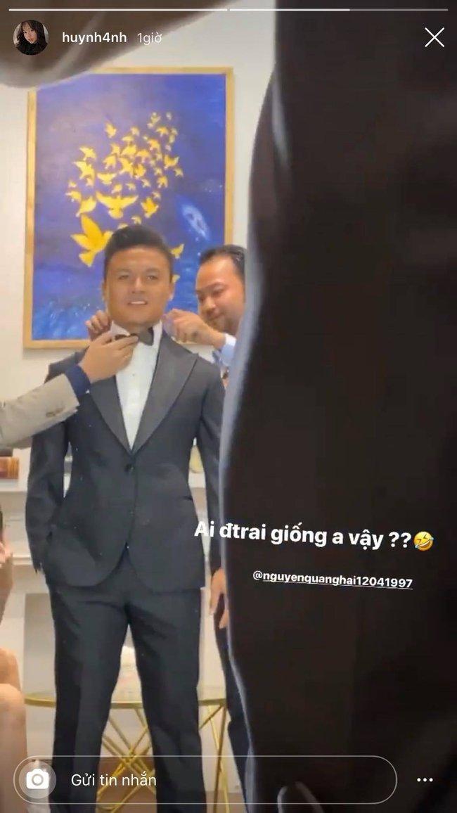 """Vừa về nhà Hải """"con"""" ra mắt, Huỳnh Anh đã làm dân mạng """"đoán già đoán non"""" về video ngắn quay cảnh đi cùng Quang Hải thử vest - Ảnh 2."""