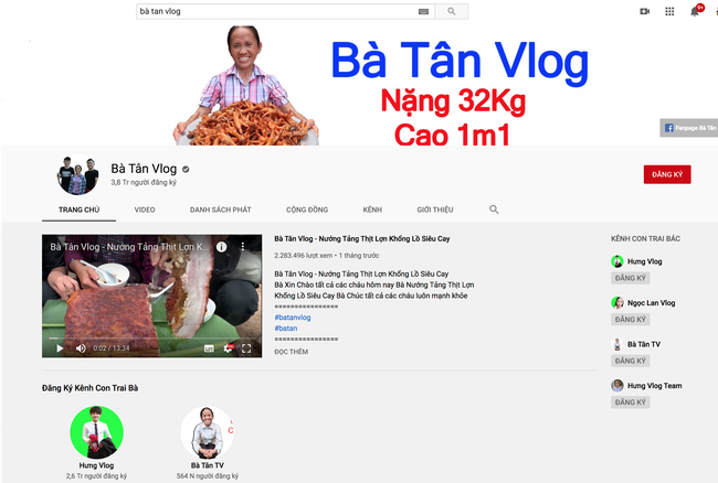 """Kênh Bà Tân Vlog từ một kênh nổi tiếng với những món """"siêu to khổng lồ"""", trở thành nơi hứng """"gạch đá"""" đủ để... xây nhà - Ảnh 1."""