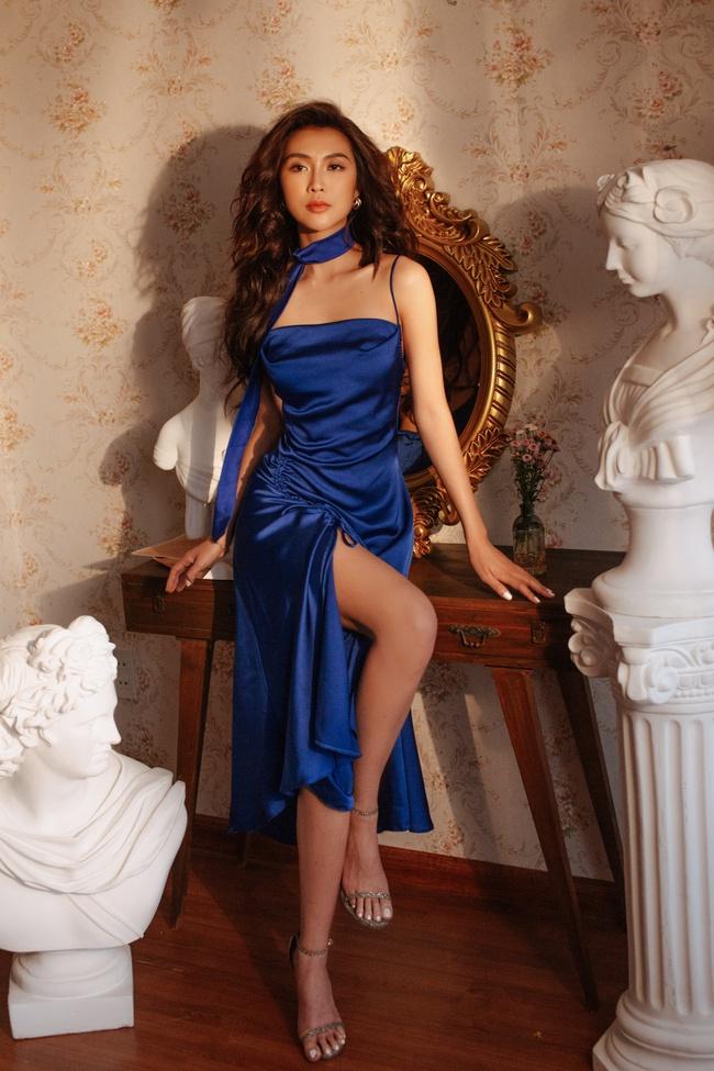 Hoa hậu Tường Linh để lộ hữu vòng eo 53cm nhỏ nhất showbiz dù nghỉ dịch cả tháng - Ảnh 2.