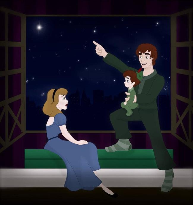 Khi 18 cặp đôi nổi tiếng của Disney khi có con, bộ tranh thu hút sự chú ý trên toàn thế giới - Ảnh 12.