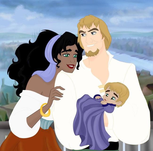 Khi 18 cặp đôi nổi tiếng của Disney khi có con, bộ tranh thu hút sự chú ý trên toàn thế giới - Ảnh 14.