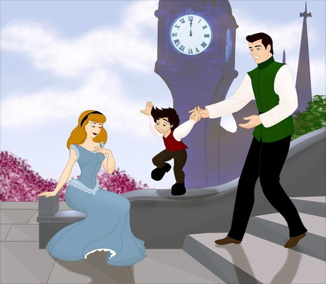 Khi 18 cặp đôi nổi tiếng của Disney khi có con, bộ tranh thu hút sự chú ý trên toàn thế giới - Ảnh 16.