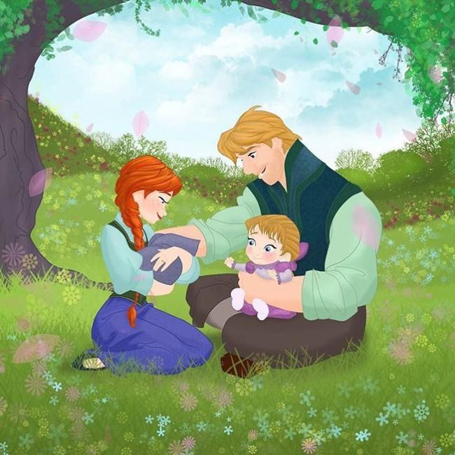 Khi 18 cặp đôi nổi tiếng của Disney khi có con, bộ tranh thu hút sự chú ý trên toàn thế giới - Ảnh 17.