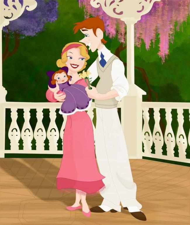 Khi 18 cặp đôi nổi tiếng của Disney khi có con, bộ tranh thu hút sự chú ý trên toàn thế giới - Ảnh 5.