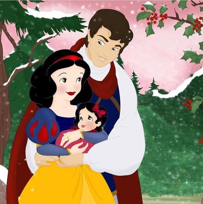 Khi 18 cặp đôi nổi tiếng của Disney khi có con, bộ tranh thu hút sự chú ý trên toàn thế giới - Ảnh 6.